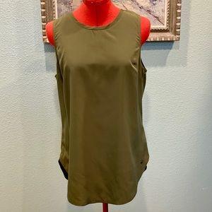 A & F stunning sleeveless army green blouse size M